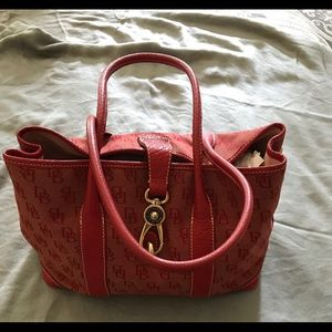 Dooney & Bourke Red Bucket Bag w/ Dust Bag